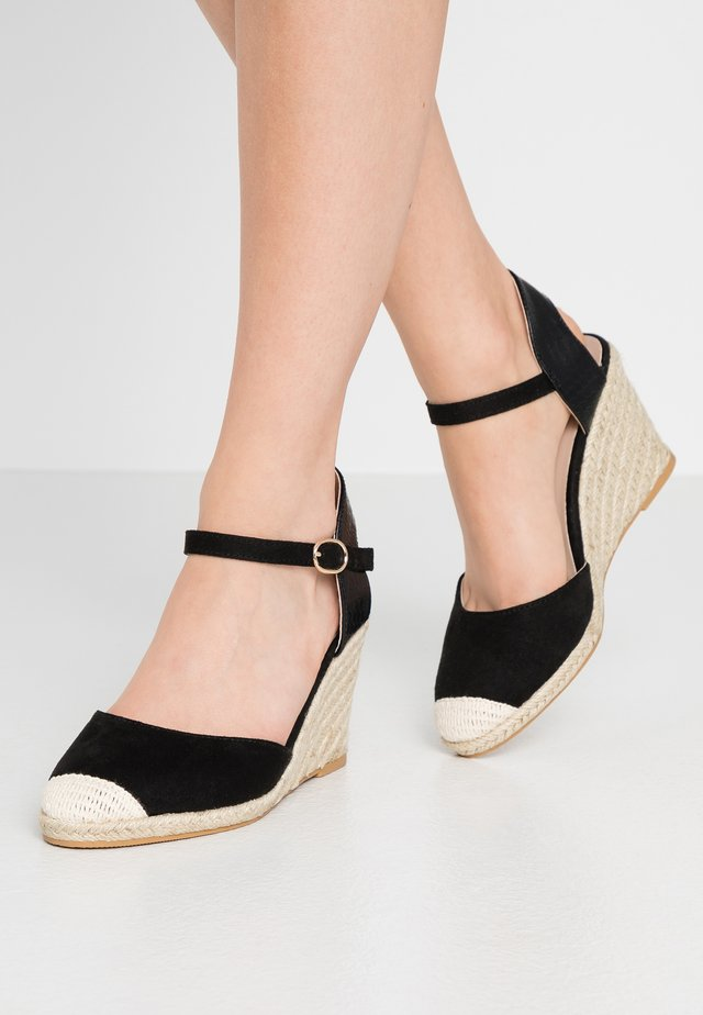 WIDE FIT WORK WEDGE - High heeled sandals - black