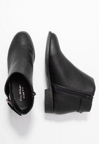 Miss Selfridge Wide Fit - BUCKLE DETAIL FLAT BOOT WIDE FIT - Kotníková obuv - black - 3