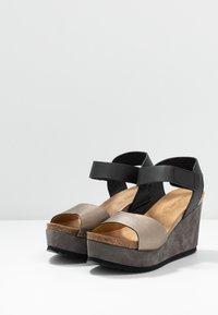 MAHONY - PATTY - Sandály na vysokém podpatku - antracite grey/black - 4