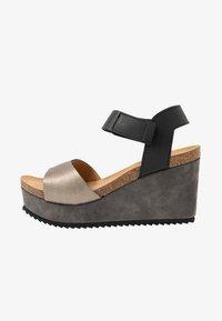 MAHONY - PATTY - Sandály na vysokém podpatku - antracite grey/black - 1
