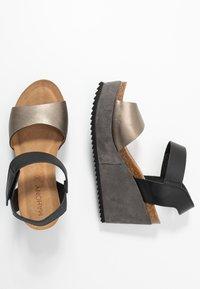 MAHONY - PATTY - Sandály na vysokém podpatku - antracite grey/black - 3