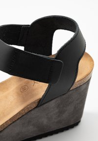 MAHONY - PATTY - Sandály na vysokém podpatku - antracite grey/black - 2
