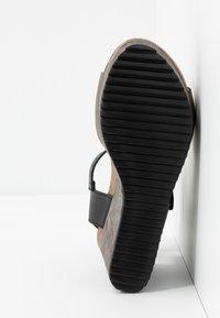 MAHONY - PATTY - Sandály na vysokém podpatku - antracite grey/black - 6