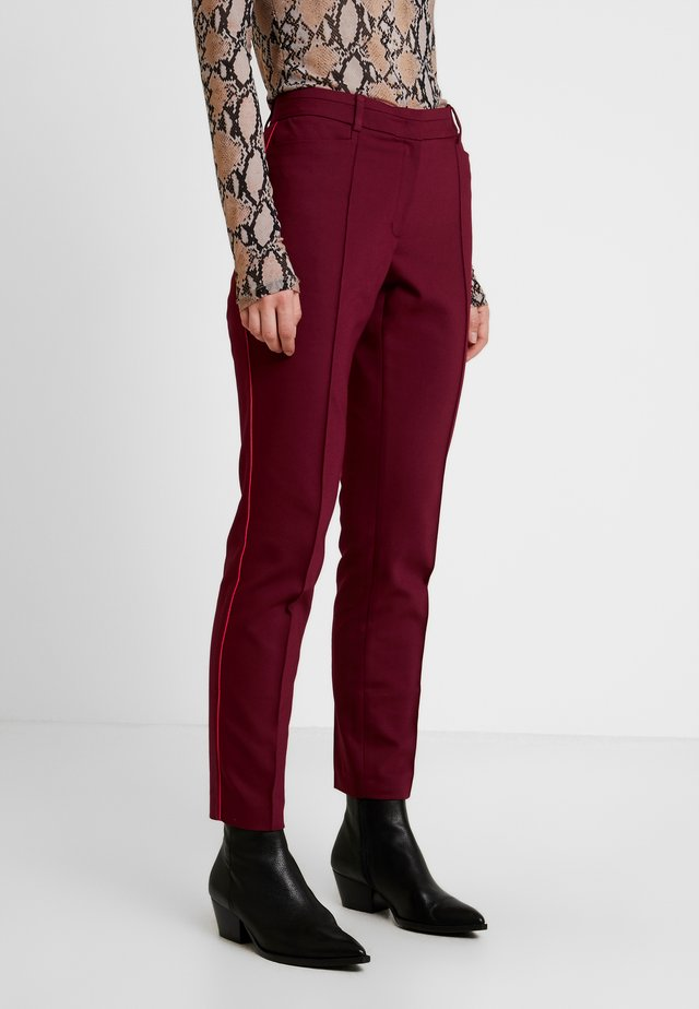 Trousers - wine red