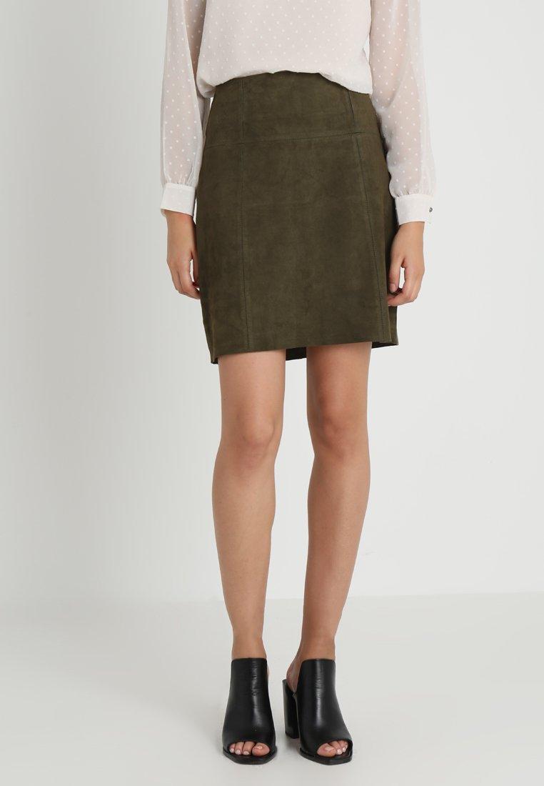 More & More - A-line skirt - khaki