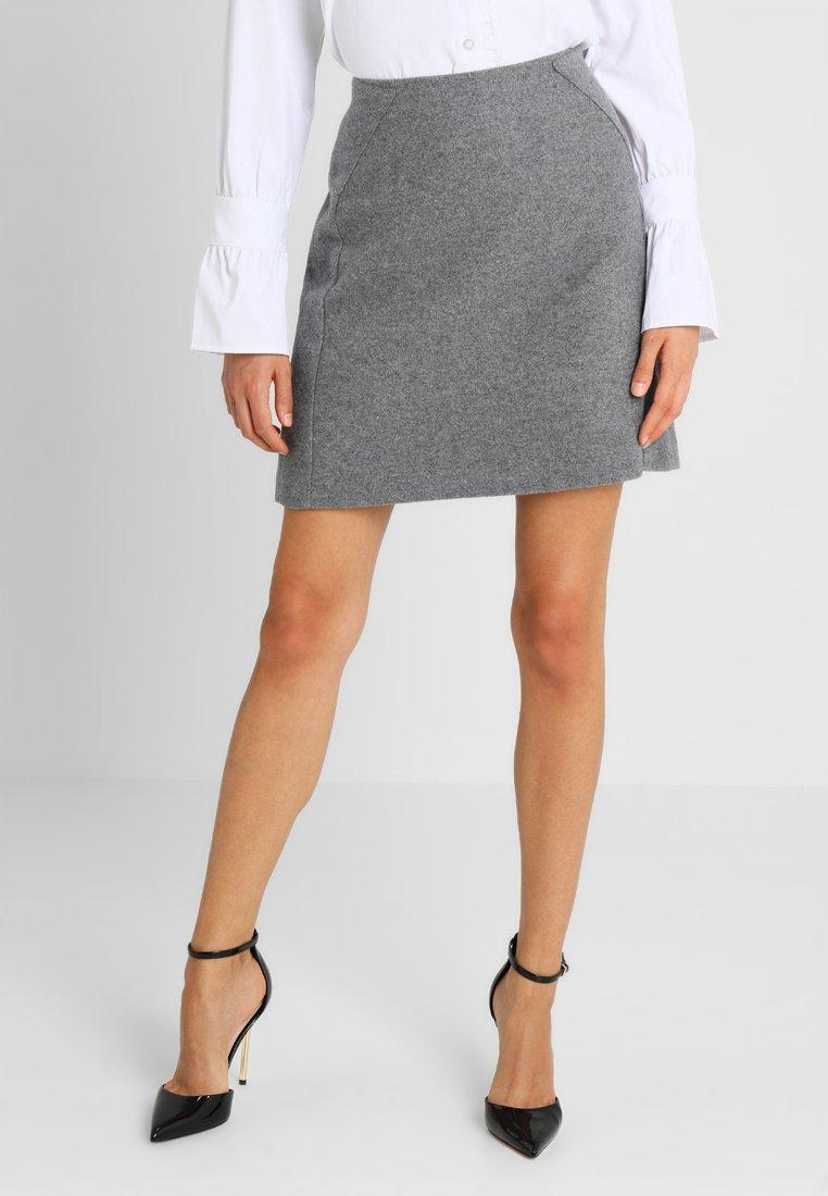 More & More - Mini skirt - warm grey melange