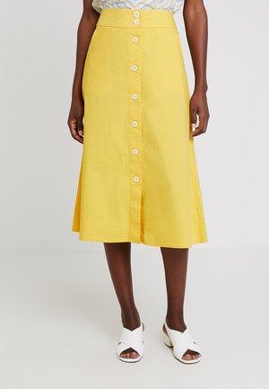SKIRT MIDI - A-line skirt - bright sun