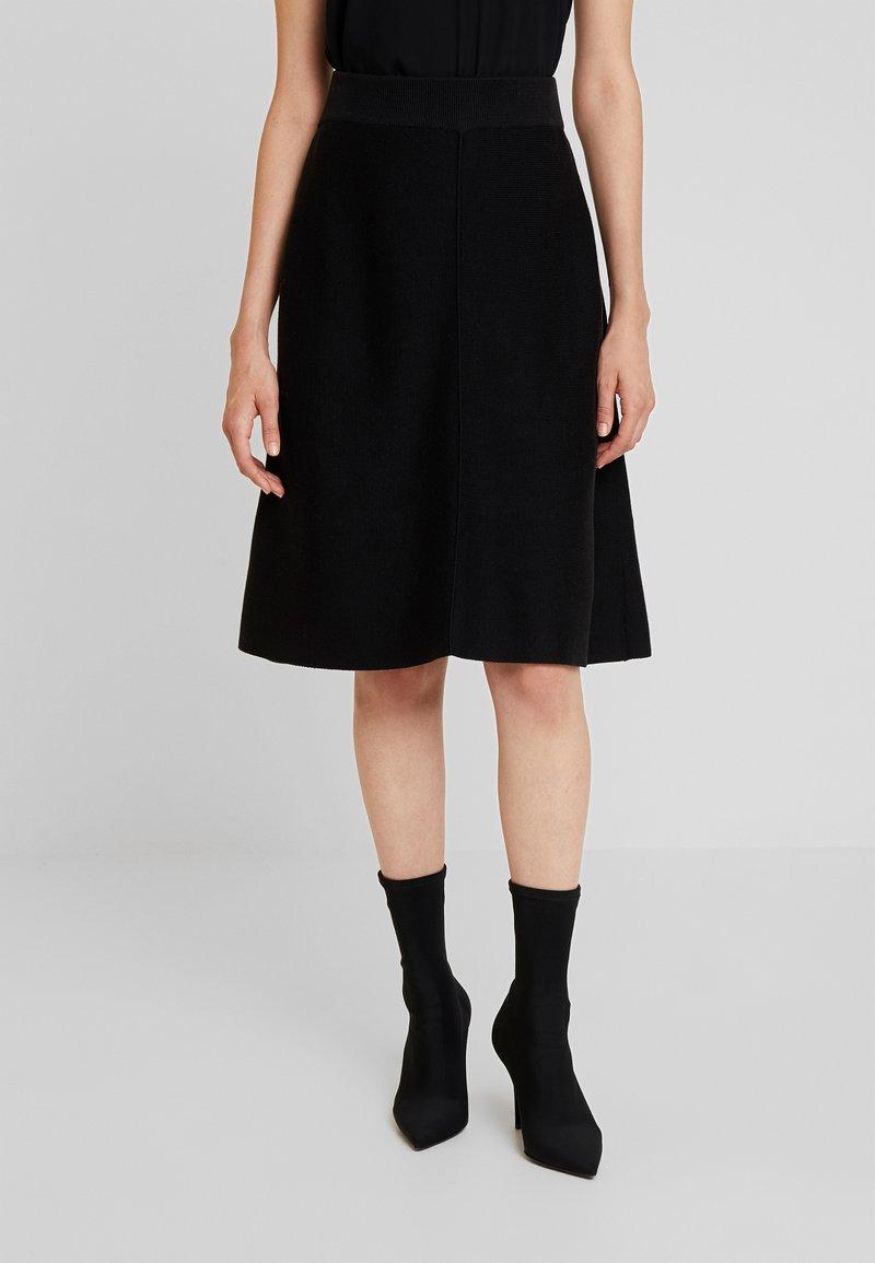 More & More - SKIRT - Áčková sukně - black