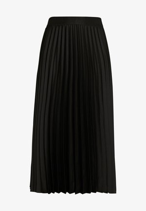 SHINY PLISSEE SKIRT - A-line skirt - black