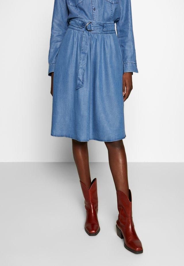 SKIRT - Spódnica trapezowa - denim blue
