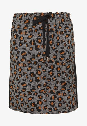 SKIRT  - Mini skirt - pumpkin orange multicolor