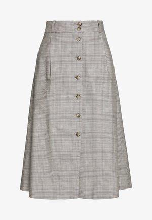SKIRT MIDI - A-line skirt - crema multi