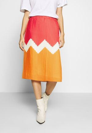 SKIRT MIDI - A-line skirt - melon