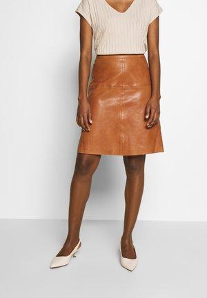 SKIRT - A-line skirt - nougat