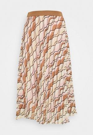 SKIRT MIDI - A-line skirt - powder creme/multicolor