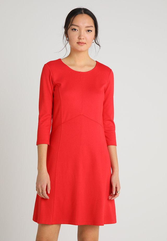 DRESS INTERLOCK - Jersey dress - tangerine red