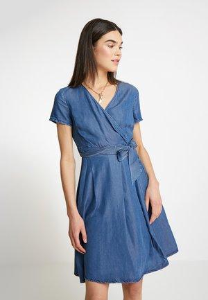 DRESS LONG - Denim dress - denim blue