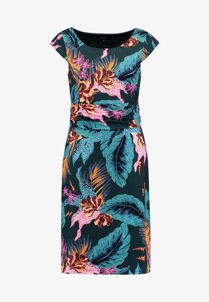 DRESS - Jerseykleid - tropical green/multicolor