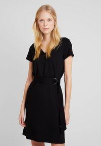 More & More - DRESS INTERLOCK - Robe en jersey - black - 0