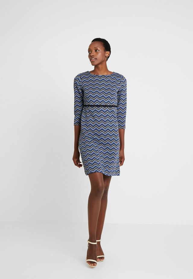 DRESS SHORT - Jersey dress - smokey blue/multicolor