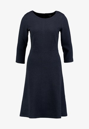 DRESS INTERLOCK - Strikket kjole - marine