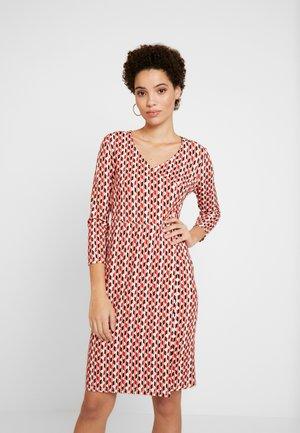 DRESS - Jersey dress - crema multi