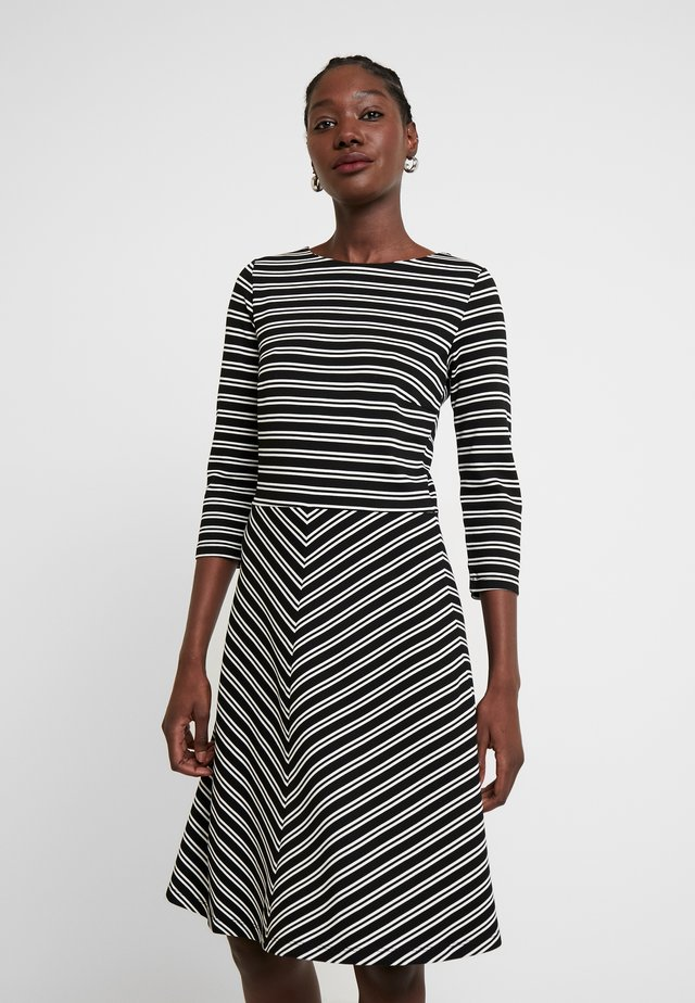 DRESS INTERLOCK - Vapaa-ajan mekko - black