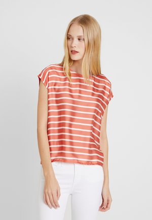 Blouse - smooth orange multicolor