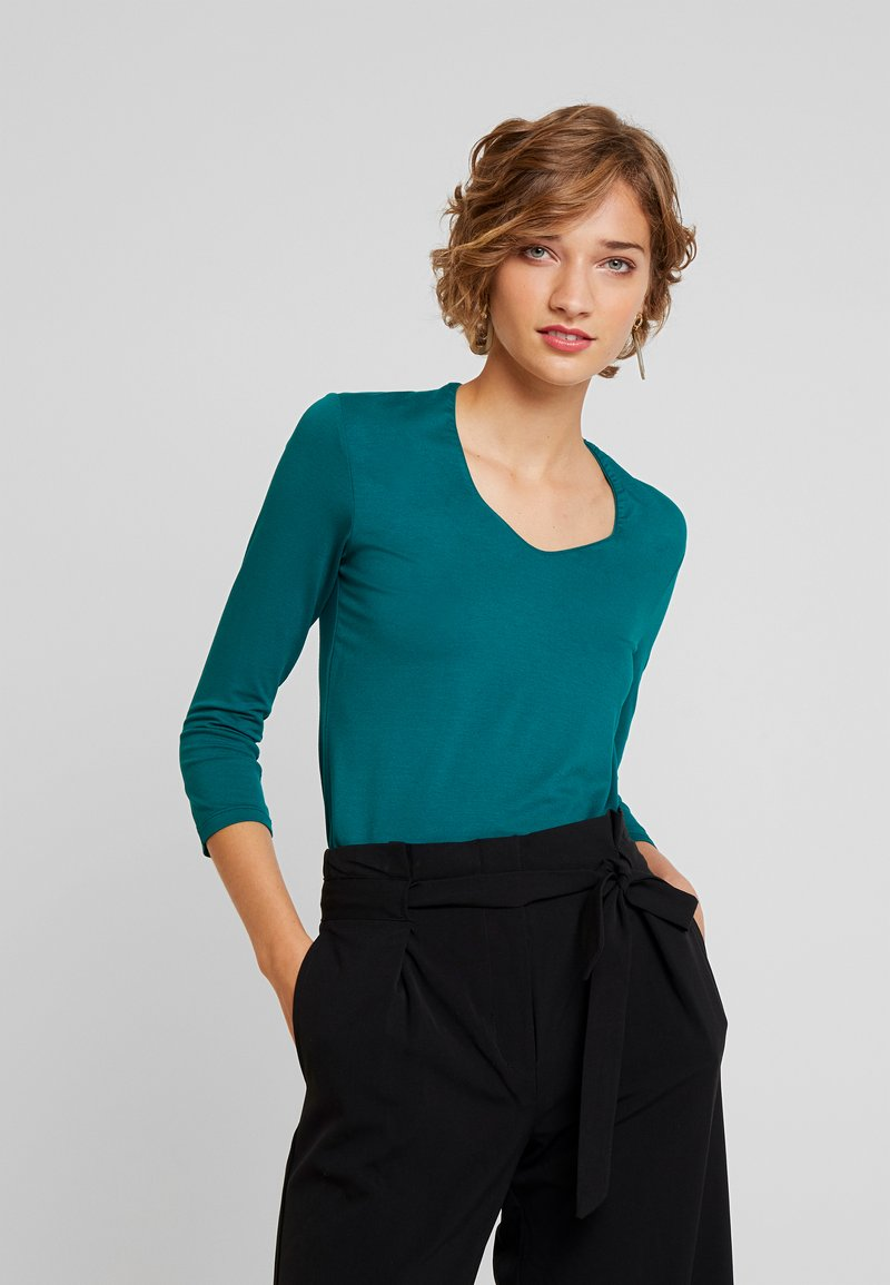 More & More - Long sleeved top - emerald green