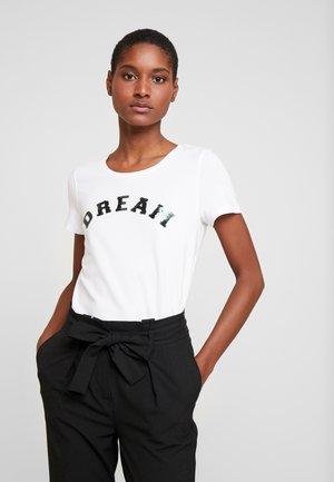 1/2 SLEEVE - Print T-shirt - white