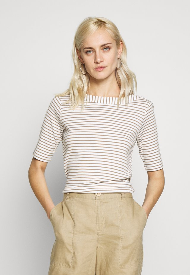 Print T-shirt - desert brown multicolor