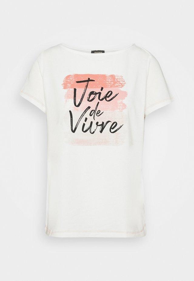 1/2 SLEEVE - T-shirt z nadrukiem - off white