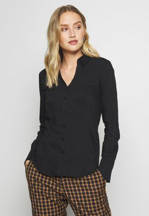 BLOUSE BILLA - Button-down blouse - schwarz