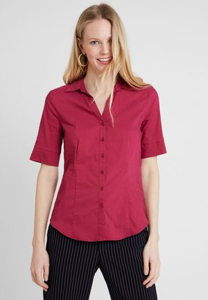 Button-down blouse - sweet raspberry