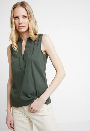 BLOUSE NON SLEEVE - Blůza - tropical green