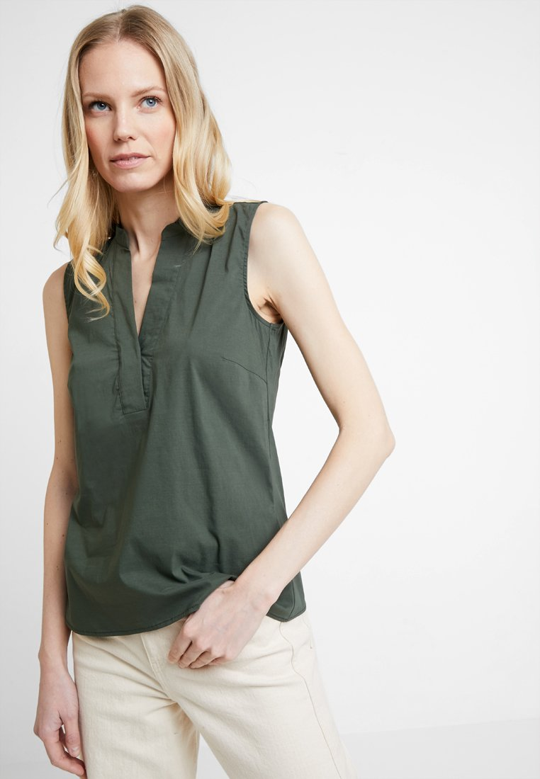 More & More - BLOUSE NON SLEEVE - Bluse - tropical green
