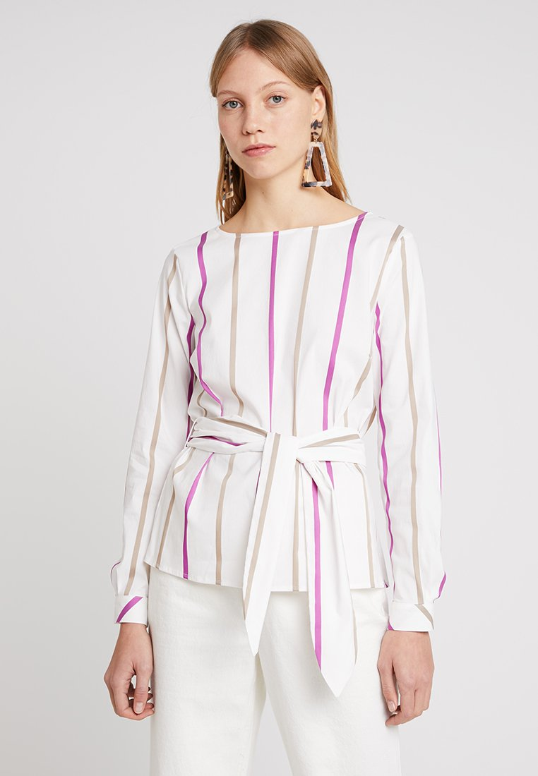 More & More - BLOUSE SLEEVE - Bluse - offwhite/multicolor