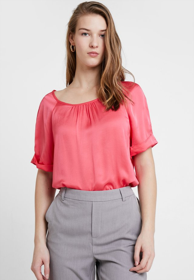 BLOUSE 1/2 SLEEVE - Blouse - raspberry