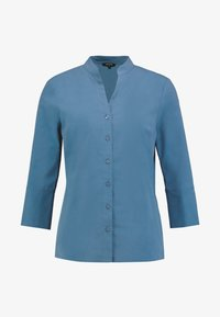 More & More - BLOUSE 3/4 SLEEVE - Button-down blouse - blue petrol - 4