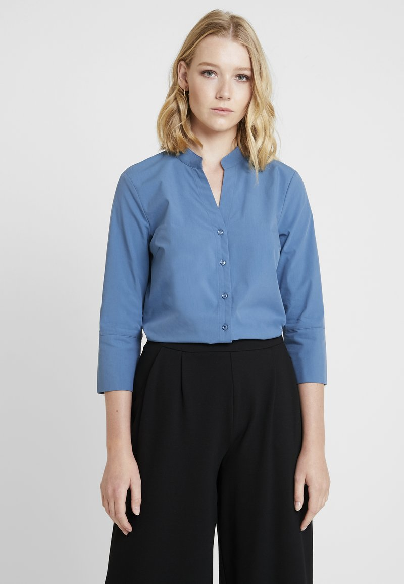 More & More - BLOUSE 3/4 SLEEVE - Button-down blouse - blue petrol