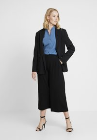 More & More - BLOUSE 3/4 SLEEVE - Button-down blouse - blue petrol - 1