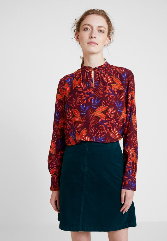 BLOUSE - Bluse - wine red/multicolor