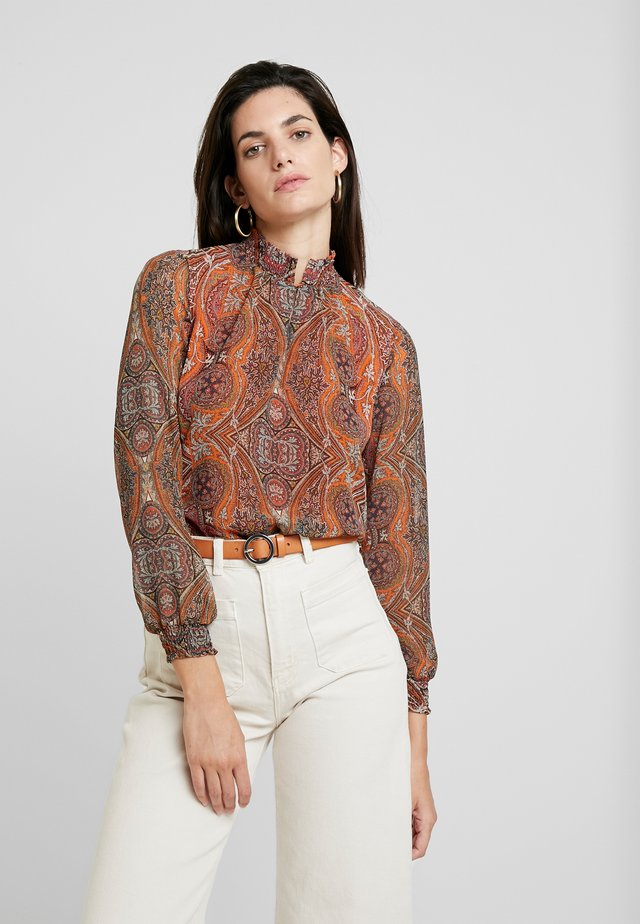 BLOUSE 1/1 SLEEVE - Blouse - warm blue/multicolor
