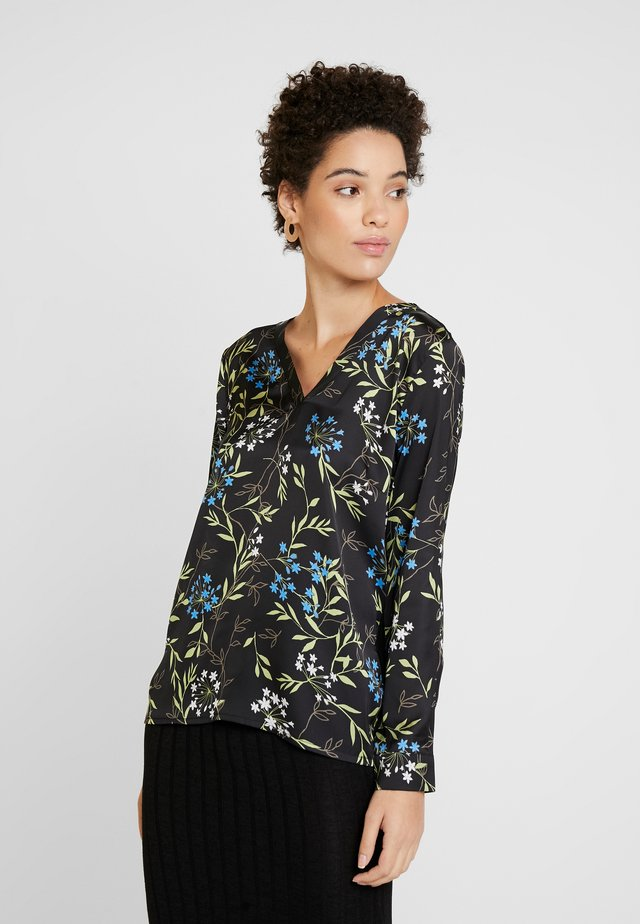 Blouse - black multi