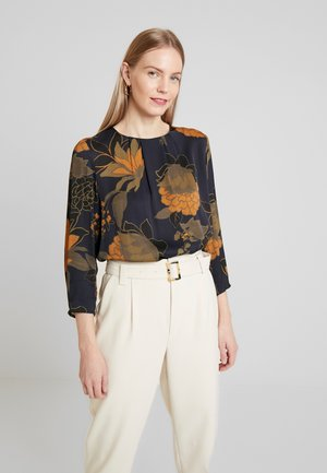 BLOUSE SLEEVE - Blouse - midnight blue multicolor