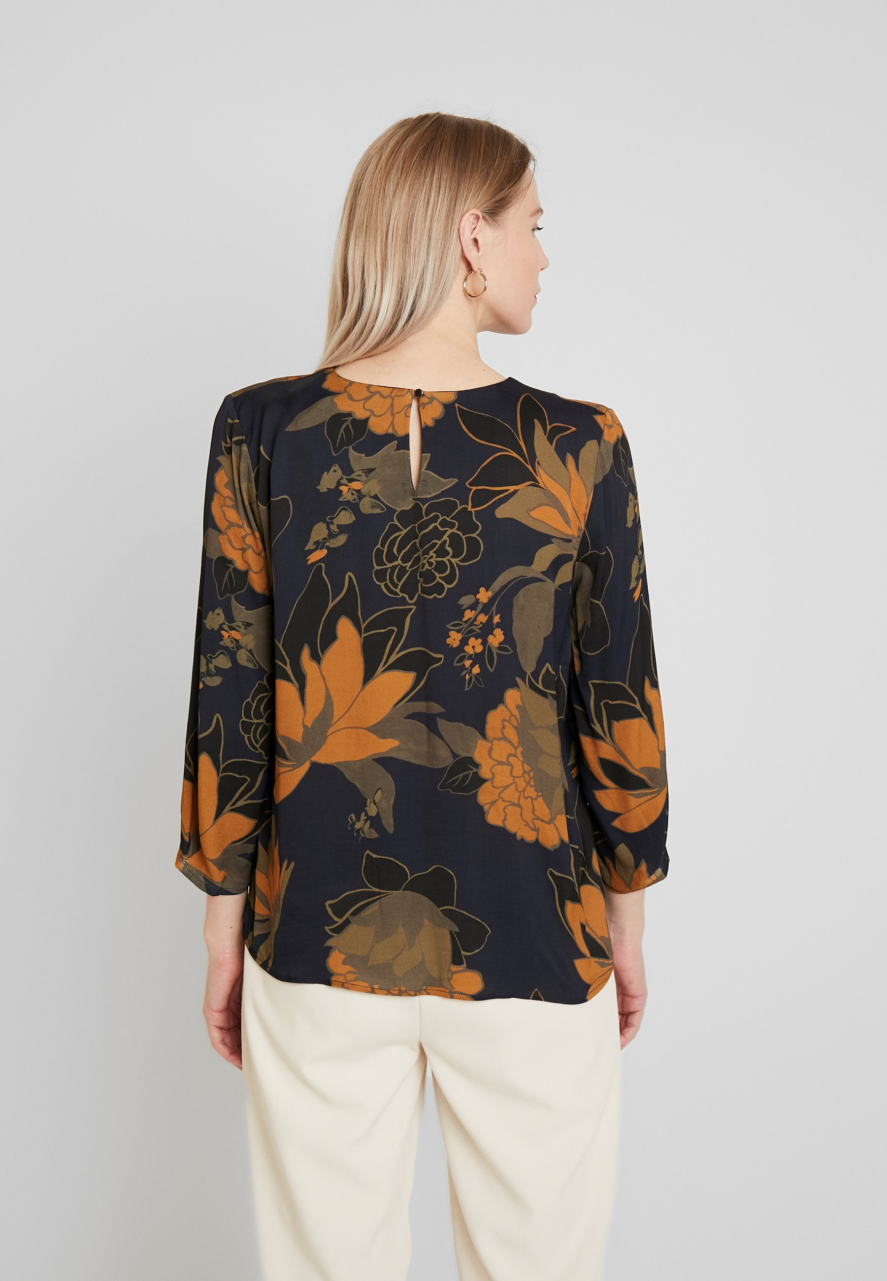 More & Blouse Sleeve - Bluse Midnight Blue Multicolor Black Friday