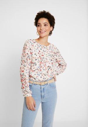 BLOUSE SLEEVE - Bluzka - cool sand multicolor