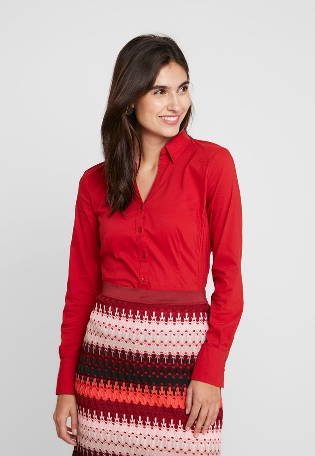 Button-down blouse - granate red