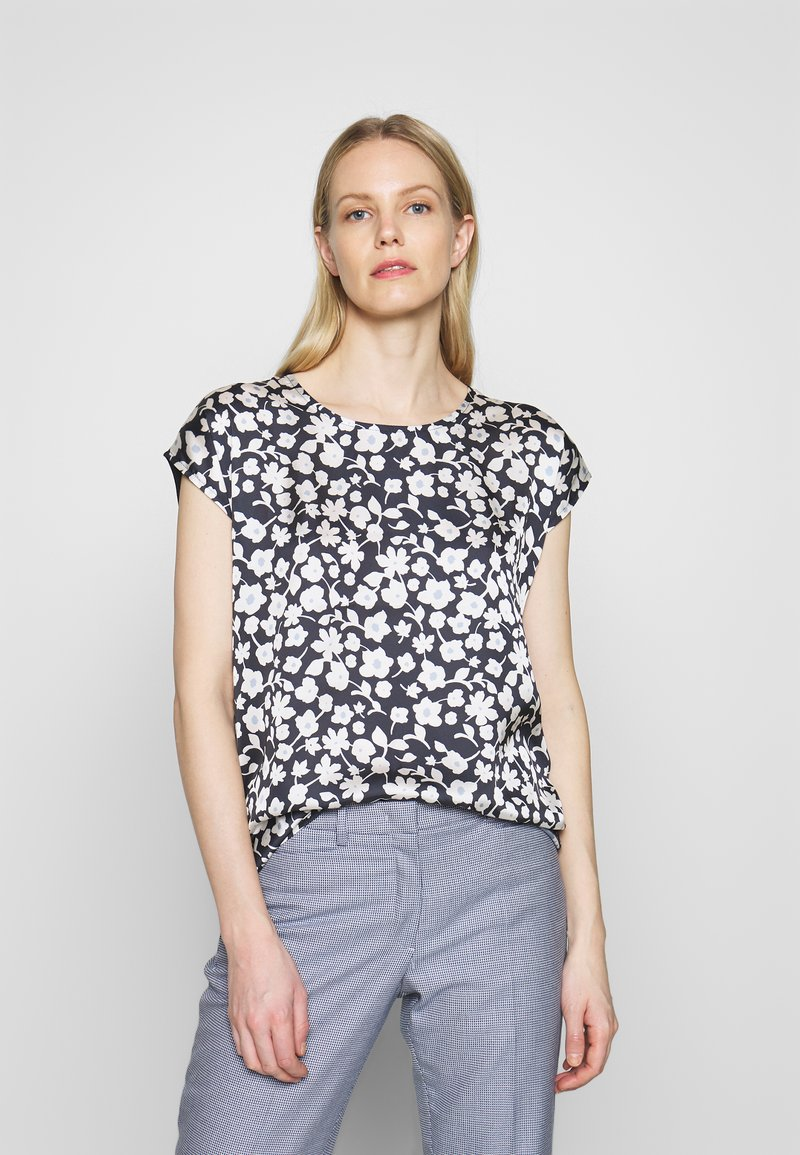 More & More - 1/2 SLEEVE - Blouse - marine/multicolor