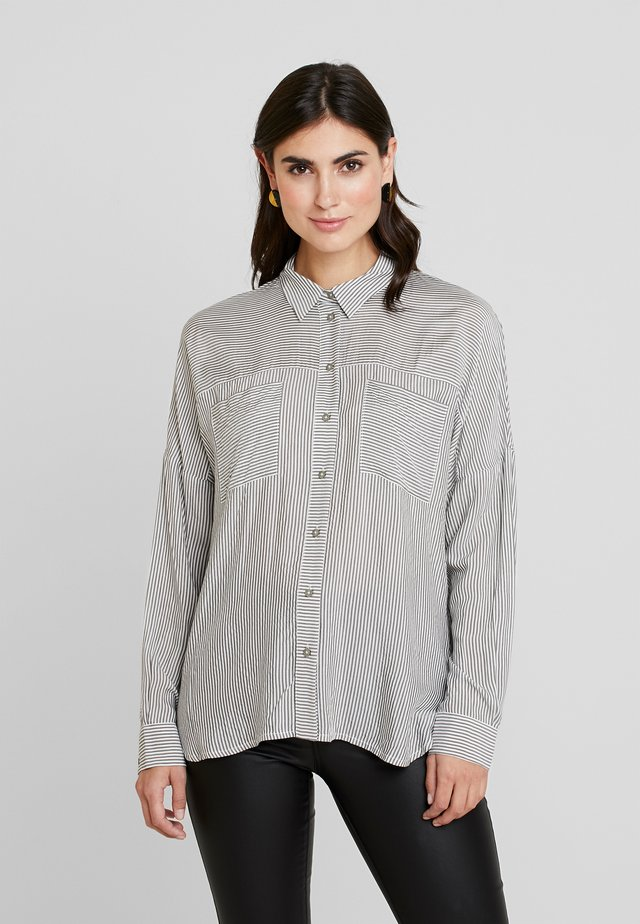 BLOUSE SLEEVE - Button-down blouse - offwhite